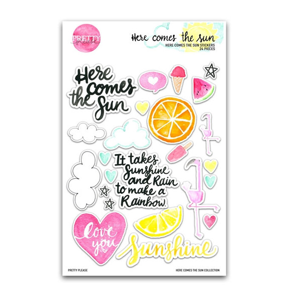 Stickers | Here Comes the Sun | Clear
