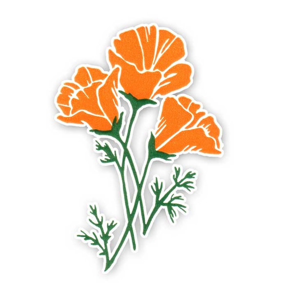 Vintage Die-Cut | Orange Poppy #1
