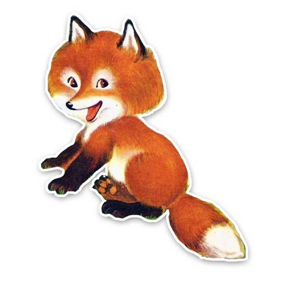 Vintage Die-Cut   Gypsy the Fox