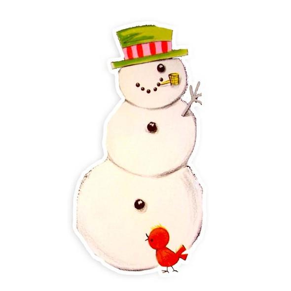 Vintage Die-Cut | Snowman #6