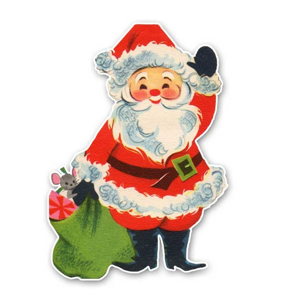 Vintage Die-Cut | Santa #13