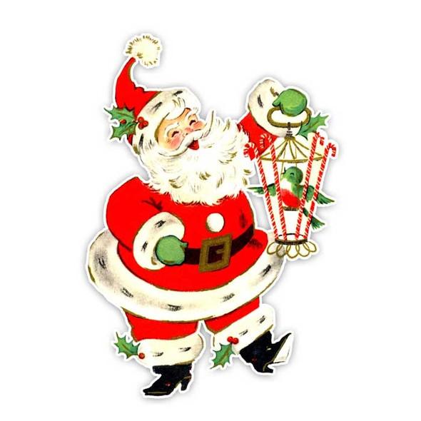 Vintage Die-Cut | Santa #14