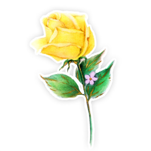 Vintage Die-Cut | Yellow Rose