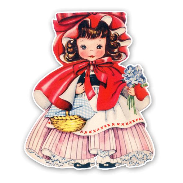 Vintage Die-Cut | Little Red Riding Hood