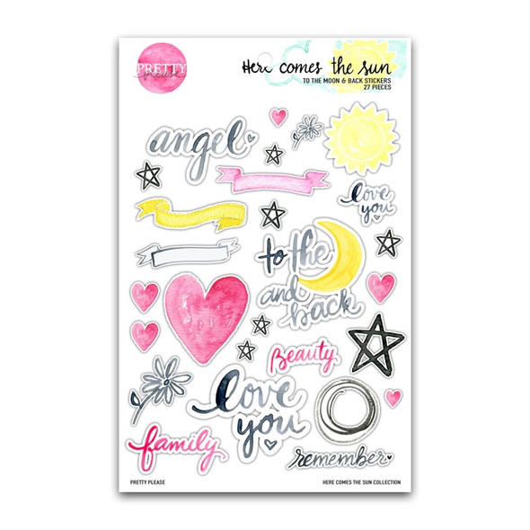 Stickers | To the Moon and Back | Clear