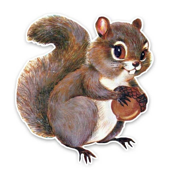Vintage Die-Cut | Cannolli Squirrel