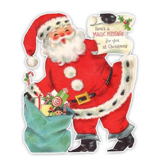 Vintage Die-cut | Santa #5