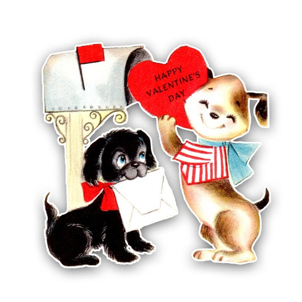 Vintage Die-Cut | Puppy Love