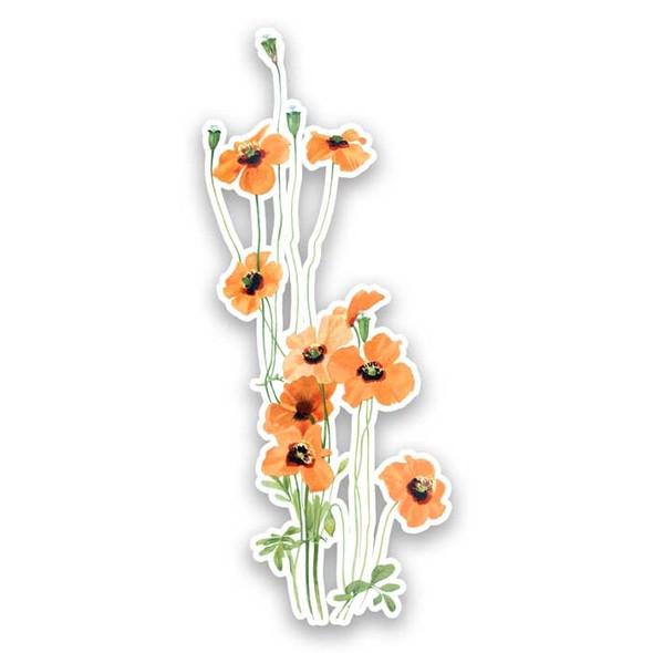Vintage Die-Cut | Wind Poppy