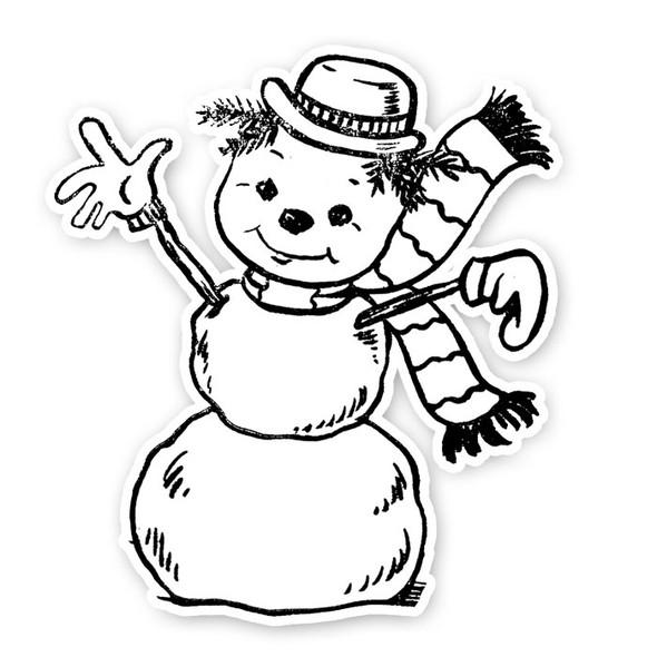 Vintage Die-Cut | Frosty Snowman
