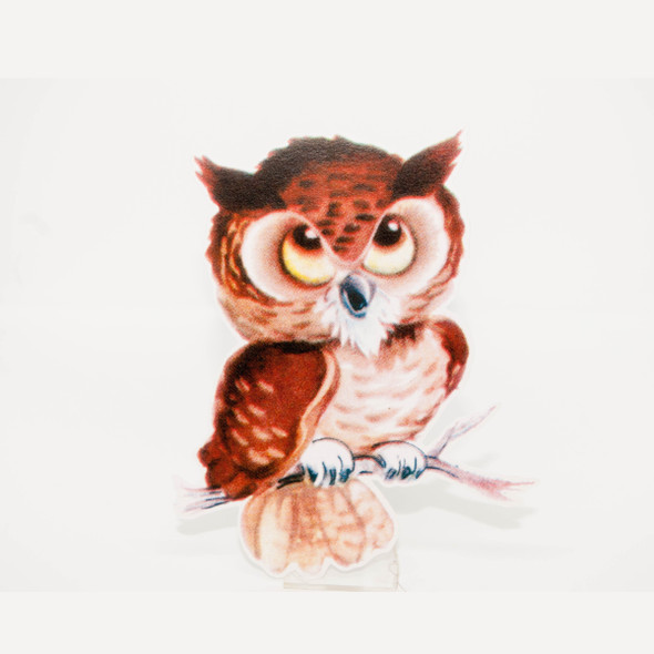 Vintage Die-Cut | Taffy Owl