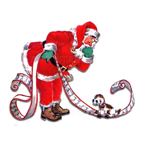Vintage Die-Cut | Santa's List