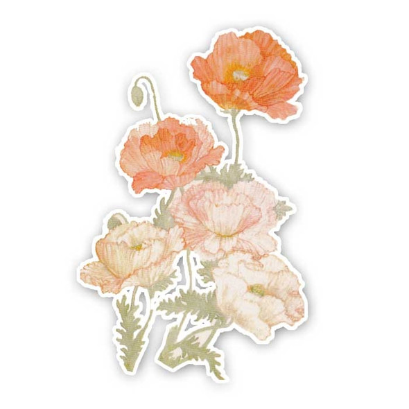 Vintage Die-Cut | Corn Poppy