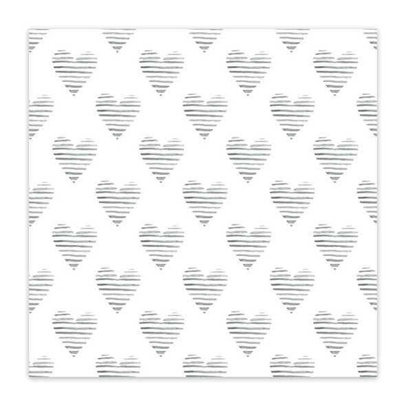 Vellum | Zebra Hearts 8x8