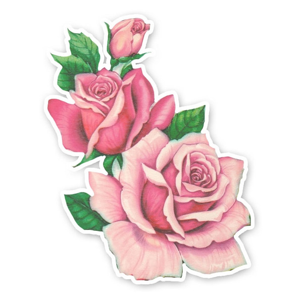 Vintage Die-Cut | Rose Trio