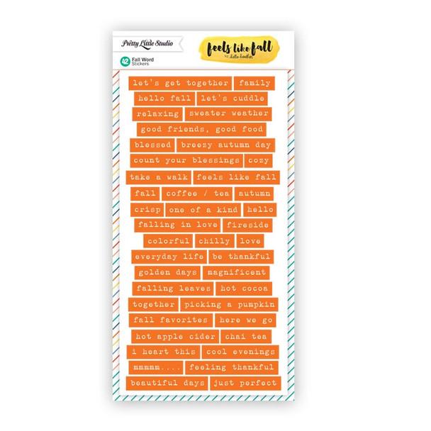Stickers | Fall Words | Orange