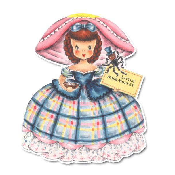 Vintage Diecuts - Miss Muffet 3