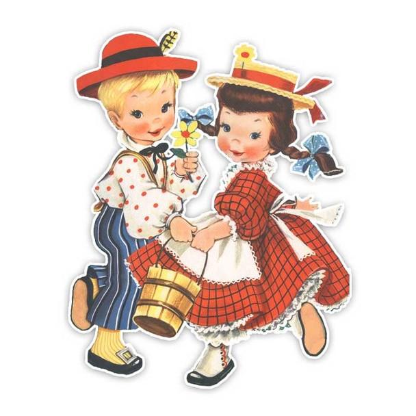 Vintage Diecut | Jack and Jill #2
