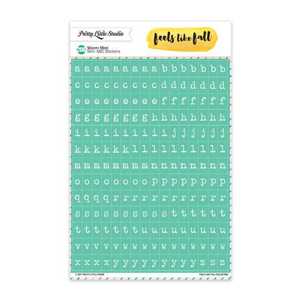 Stickers | Mini ABC | Warm Mint