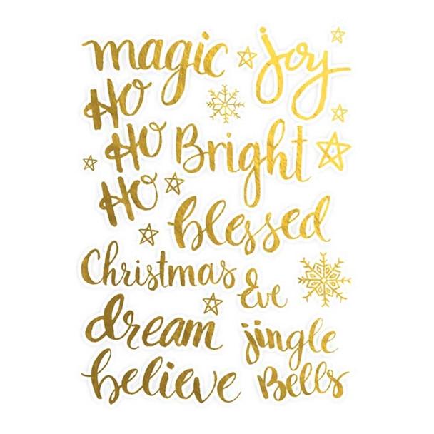 Die-Cuts | Christmas Words | Gold