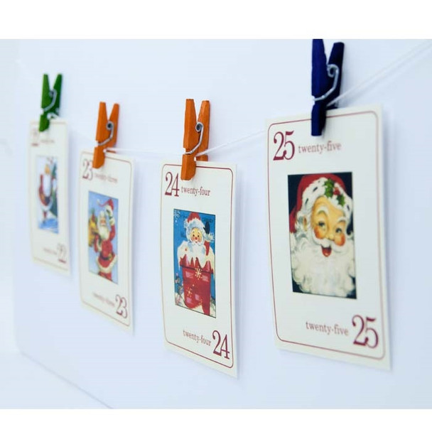 Flash Cards | Vintage Santa