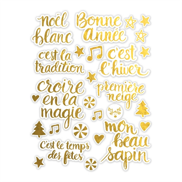 Die-Cuts | Noel Blanc | Gold
