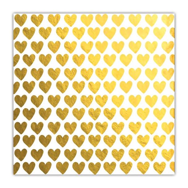 Paper | Heart You | Gold Metallic 8x8