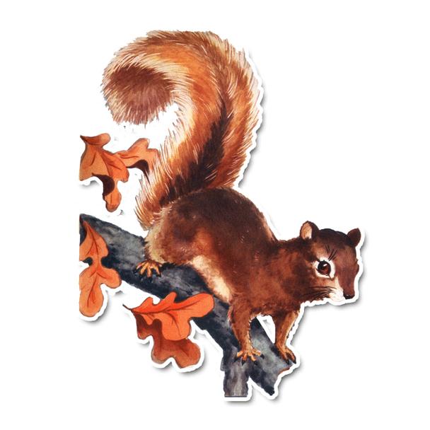 Vintage Die-Cut | Sandy the Squirrel