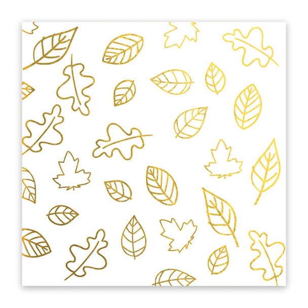 Metallic Vellum   Falling Leaves   Gold