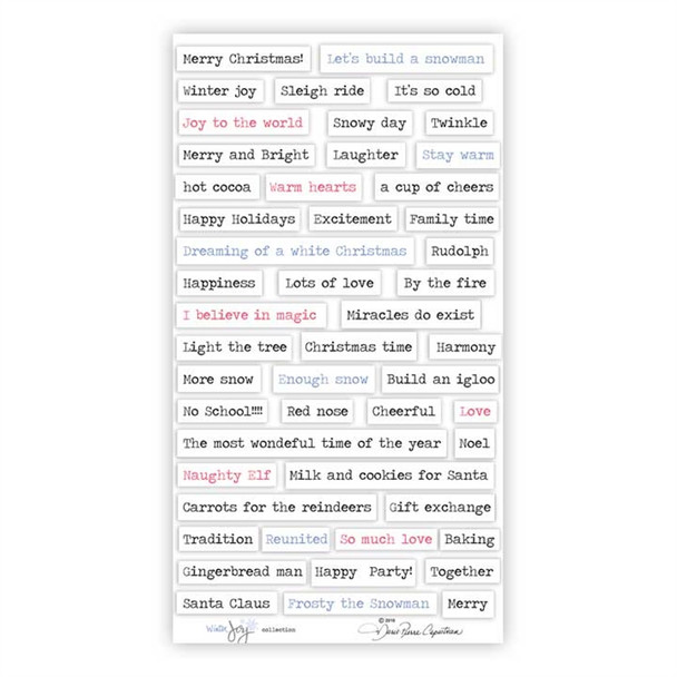 Stickers | Be Merry Words