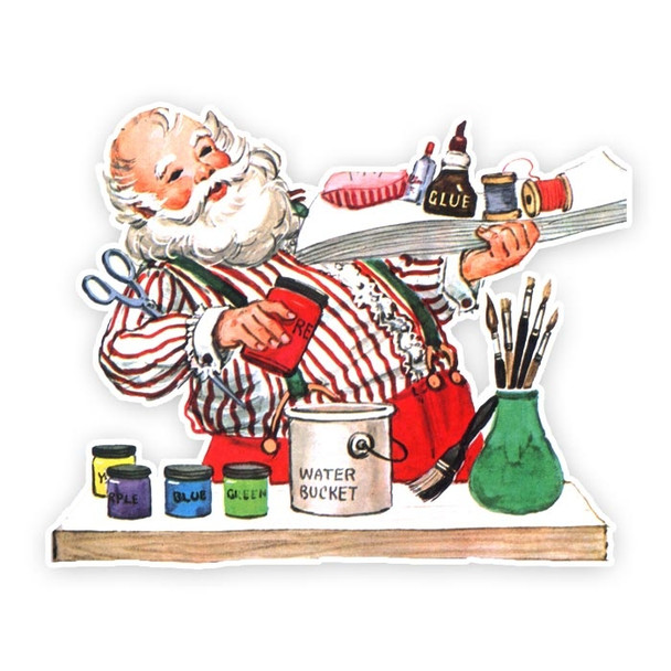 Vintage Die-Cut | Crafty Santa