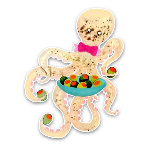 Vintage Die-cut | Owen Octopus
