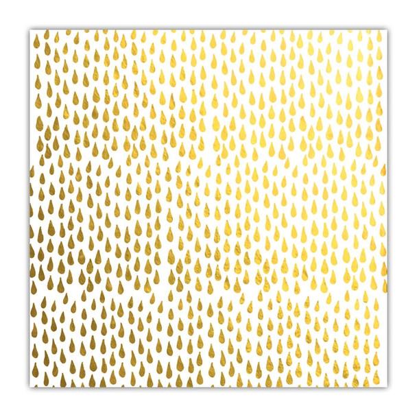 Metallic Paper | Rain Drops | Gold