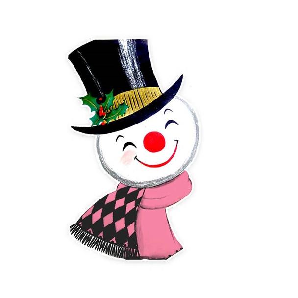 Vintage Die-Cut | Snowman #7