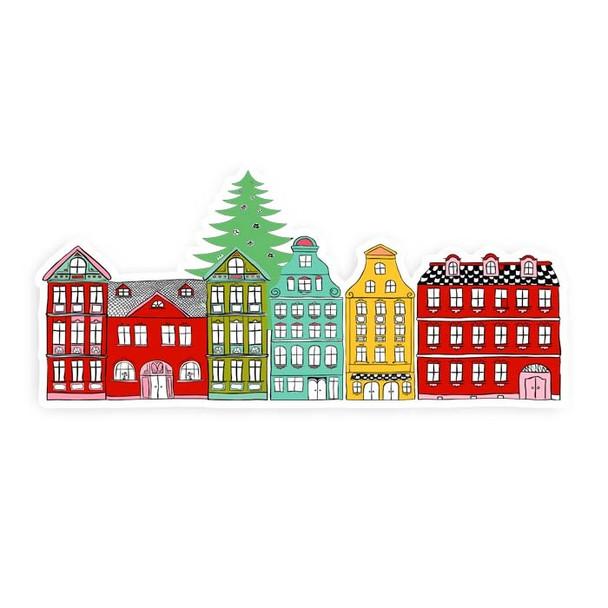 """Die-Cut   Christmas Town #2   7"""""""