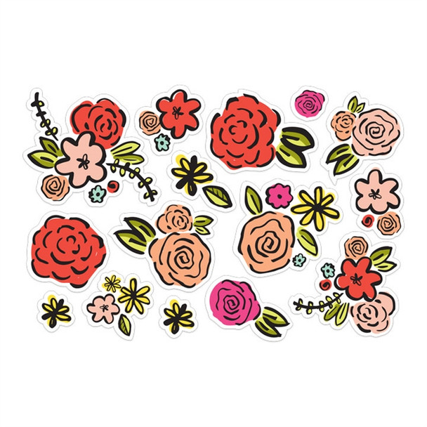 Die-Cuts | Colorful Blooms