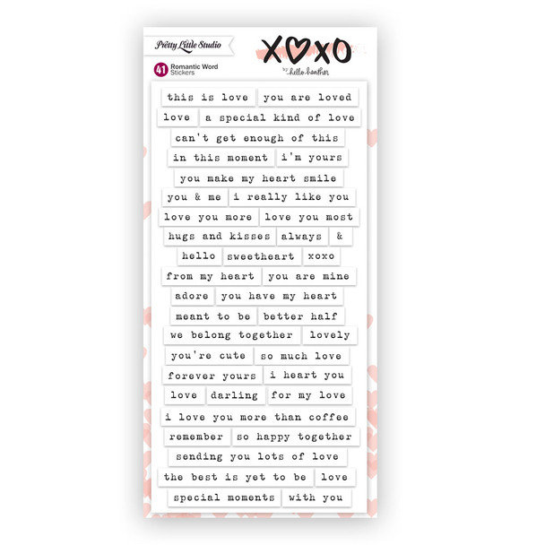 Stickers | Romantic Words | White