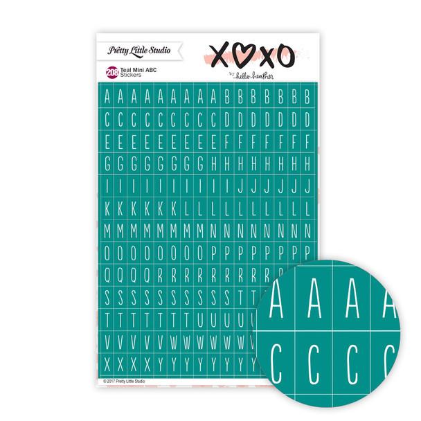 Stickers | Mini ABC | XOXO Teal