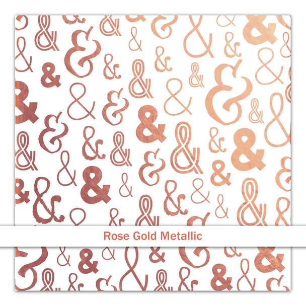 Metallic Clear   &   Rose Gold
