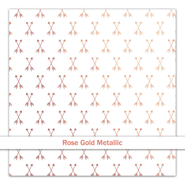 Metallic Clear | Cross My Heart | Rose Gold