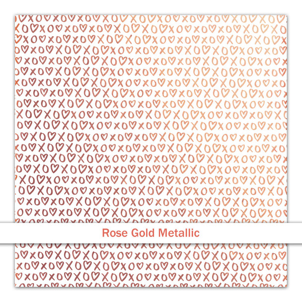 Metallic Clear | Hugs & Kisses | Rose Gold