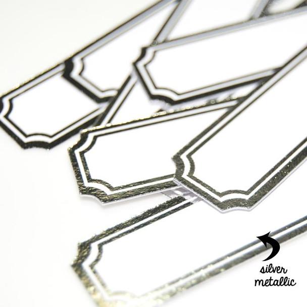 Die-Cuts | Silver Labels