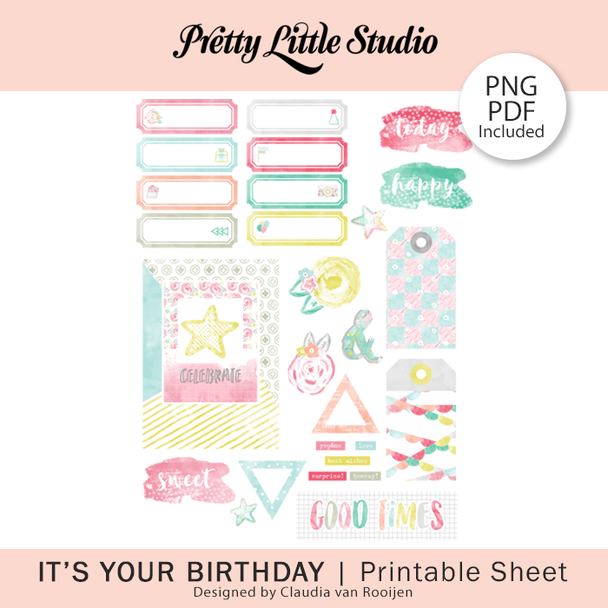 Freebie | It's Your Birthday PDF