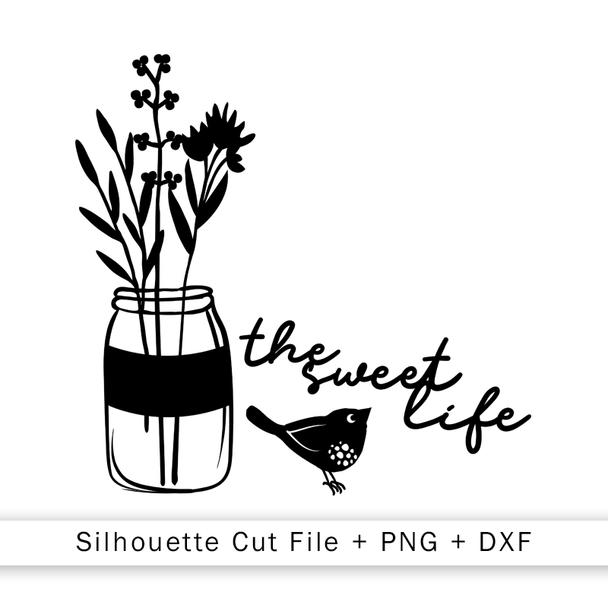 Cut File   Sweet Life Jar