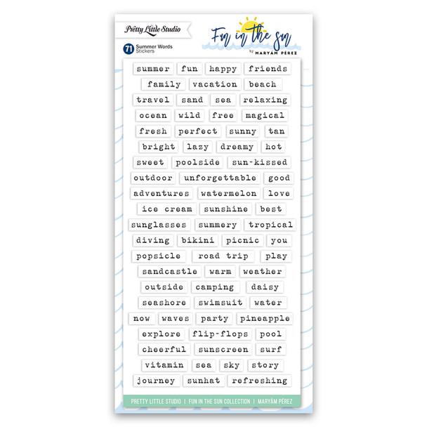 Stickers | Summer Words | White