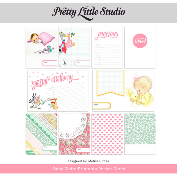 Printable   Baby Claire Cards