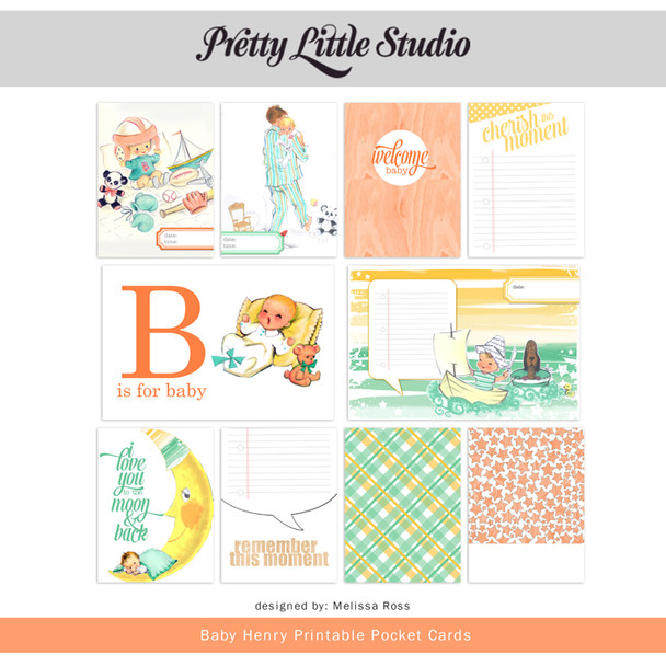 Printable | Baby Henry Cards
