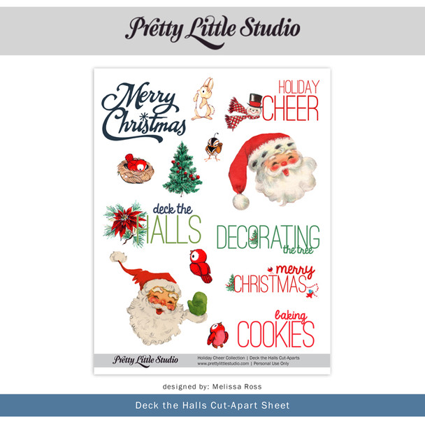 Printable | Deck the Halls Cut-Aparts