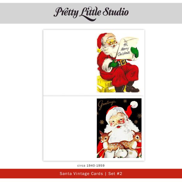 Printable | Santa #2 Vtg Cards