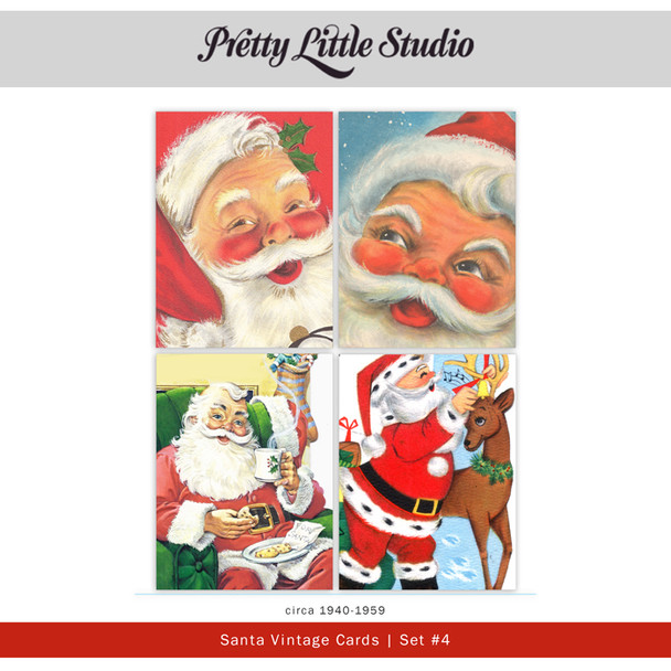 Printable   Santa #4 Vtg Cards